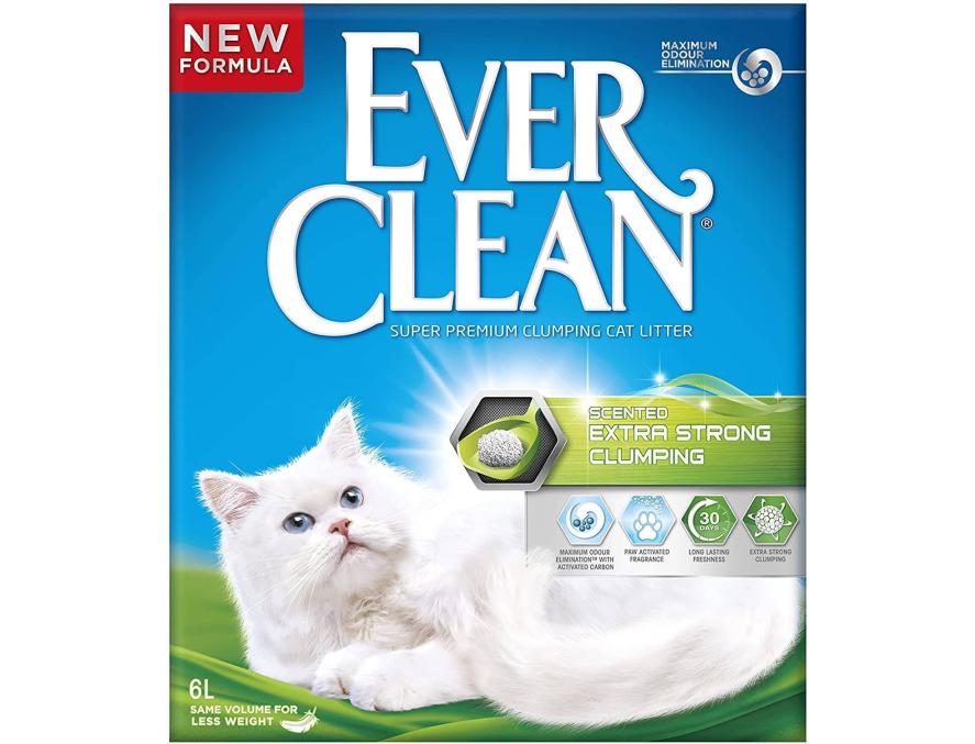 EVER CLEAN Posip za mačke Scented ExtraStrong, sa mirisom, grudvajući