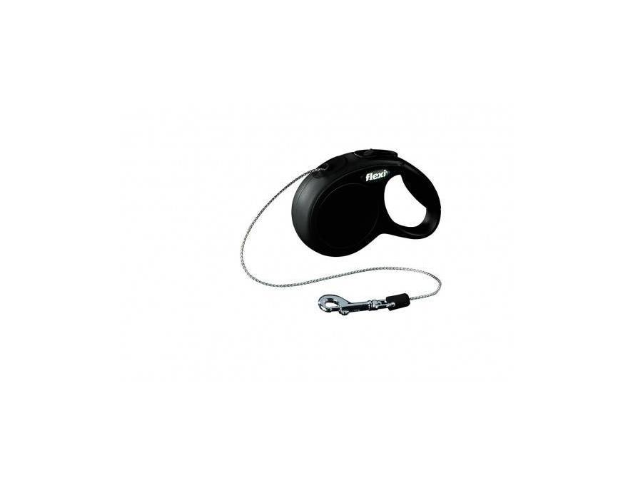 Flexi povodac New Classic XS cord crni 3m