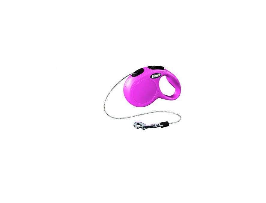 Flexi povodac New Classic XS cord roze 3m
