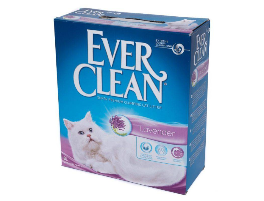 EVER CLEAN Posip za mačke Lavander, s mirisom, grudvajući