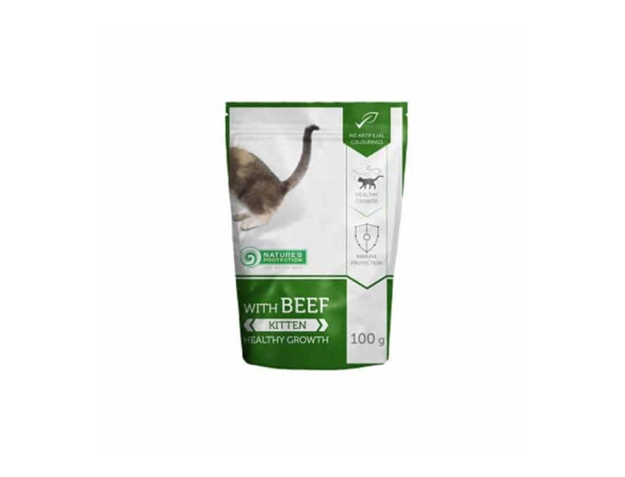 NATURE'S PROTECTION KITTEN BEEF SOS - 100g