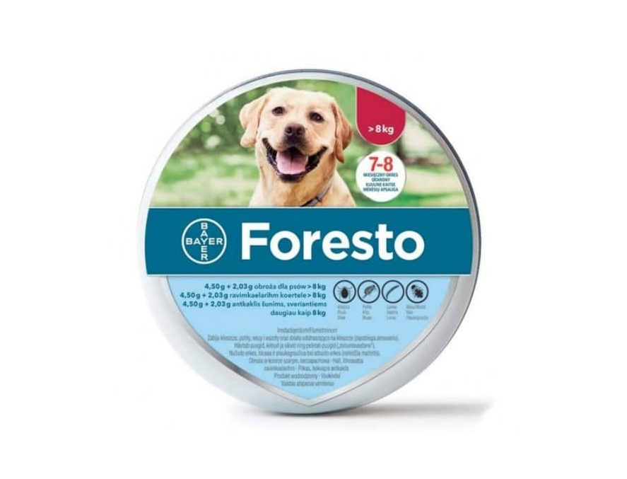 FORESTO OGRLICA PROTIV BUVA I KRPELJA - za pse preko 8kg