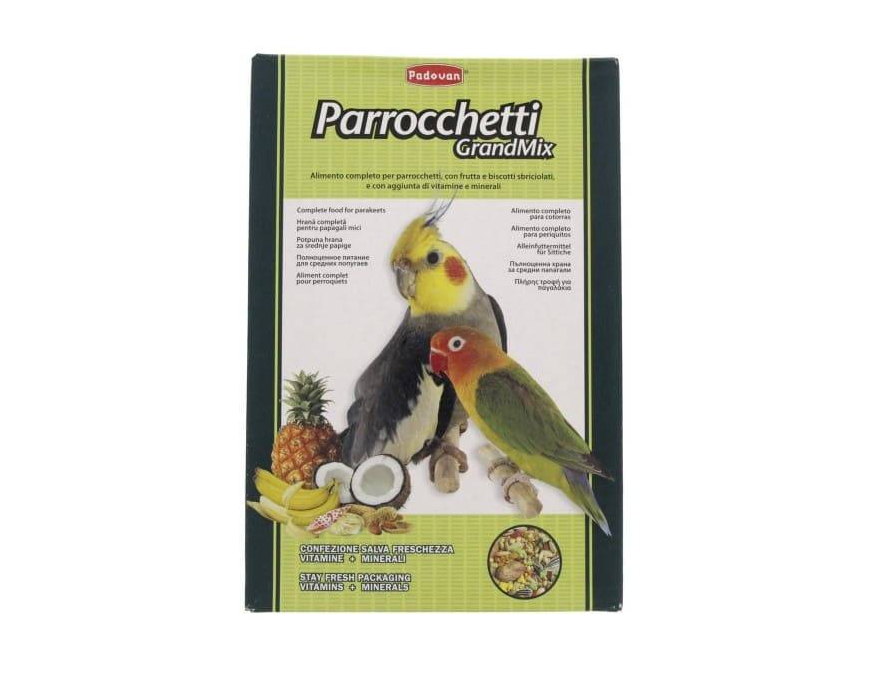 Padovan GrandMix Parrocchetti hrana za srednje papagaje 400g