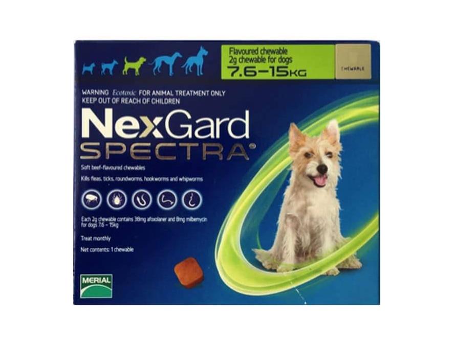 NexGard SPECTRA za pse 7,5-15kg